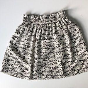 Club Monaco silk floral mini skirt
